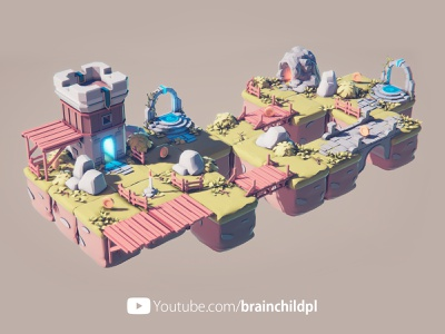 Youtube Video - PART 6: Blender & Unity - 3d Low Poly Game Art video youtube brainchildpl stylised art lowpoly low-poly low polygon 3d artist 3d art low poly art blender to unity blender uniy indie indie dev game dev game art 3d low poly 3d low poly