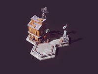 Landing Pad 3d Lowpoly Game Building ( New Render ) textures strategy rts post-apocalypse medieval 3d low poly art low poly lowpoly landing pad game building game art city builder brainchildpl apocalypse 3d low poly 3d game building 3d game art 3d artist 3d art