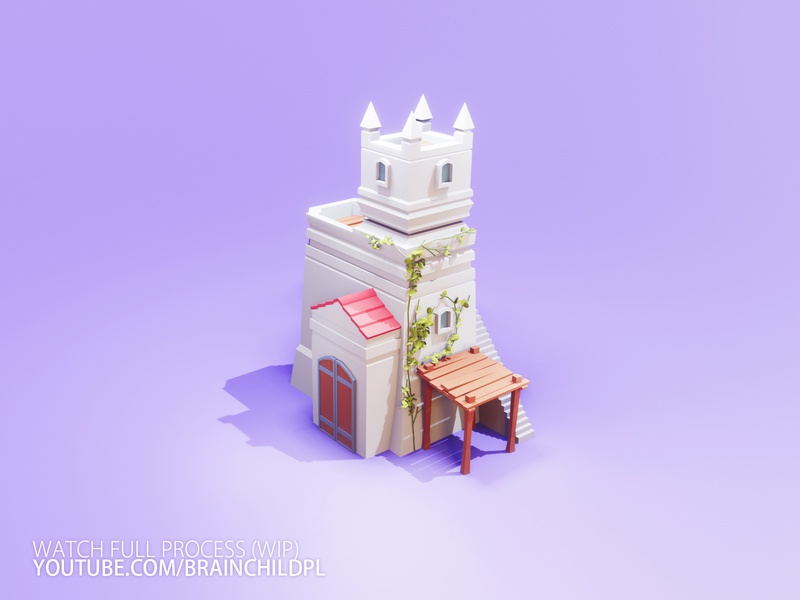 [Work in Progress] Low Poly CASTLE Blender 2.90 | 3d ART lowpoly 3d low poly blender art b3d blender 3d blender 2.90 low poly game art game art low poly 3d artist 3d art