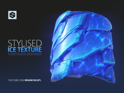(Substance Designer) Stylised / Cartoon ICE texture   Tileable game texture creation game engine ready madewithsubstance texturing game asset game-ready procedural substance designer seamless texture tileable texture game design stylised game art ice texture cartoon ice stylised ice ice tutorial 3d artist game texture texture
