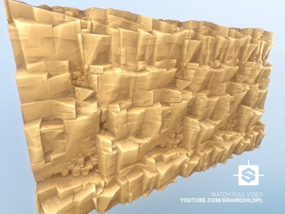 Cartoon Sandy CLIFF texture in Substance Designer | Stylised madewithsubstance substance designer desert rock sandy rock desert texture desert cliff rocky cliff sandy cliff unity unreal game ready seamless tileable modular game model tessellated cliff texture stylised cartoon cliff