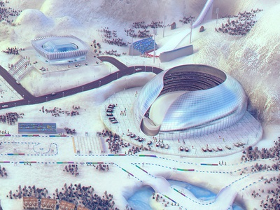 Winter Sports - 3d game Interactive illustration