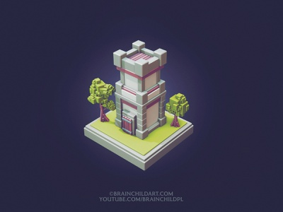 LOW POLY Cube Worlds #8   Flat Shaded   Blender Speed Modeling   tutorial 3d 3d artist 3d models low poly 3d art low poly 3d low poly art low poly castle low poly lowpoly3d lowpolyart castle tower game asset game art game model 3d model 3d modeling 3d art lowpoly