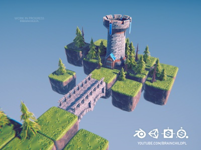 Stylised Low poly 3D (Game-ready) Blender, Substance & Unity concept art adobe substance painter blender to substance blender to unity blender unity blender tutorial tutorial lowpoly environment low poly environment 3d modeling 3dmodel 3d model gameart game dev game asset game art low poly lowpoly