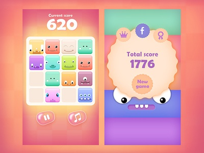 2048 Cute Monsters - Web/iOS/Android