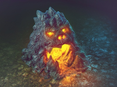 Some cave 3d low poly zbrush sculpt blender brainchild icon game design ios android cave