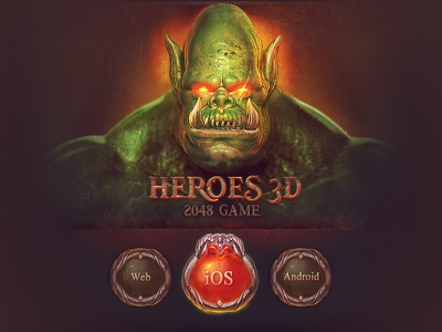 2048 Heroes 3d - Appstore / Android / Web 2048 ui game mobile ios android brainchild rafal urbanski icon gui diablo game icon