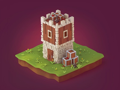 Game Building Icon 3d  3d low poly brainchild lowpoly game mobile game illustration 3d illustration game icon icon 3d cartoon building