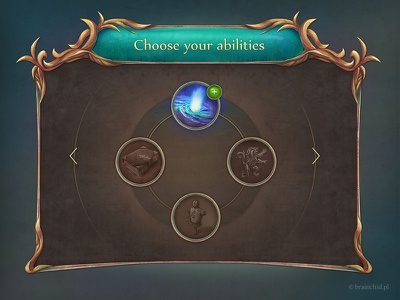 Fantasy GUI brainchildpl brainchild urbanski rpg diablo gui layout interface set ios android design