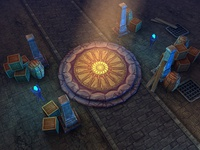 3d Dungeon Assets - Very Low Poly (mobile)