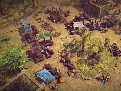 Top-Down Desert - Video unity pc mobile rpg top-down diablo desert low poly 3d urbanski brainchild