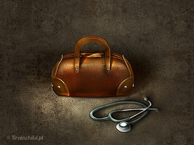 An old doctor's bag icon.