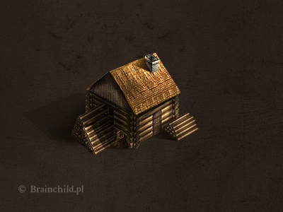 A Lumberjack's hut for a rts/rpg  icon designer icon design new media designer designer game designer game layout game design game development brainchild.pl brainchild rafal urbanski rafał urbański game infterface web interface web design