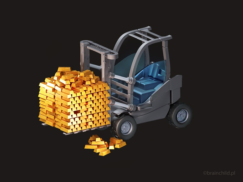 3d Loader Car Icon for a mobile game by Rafał Urbański | Dribbble