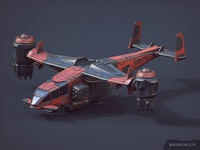 Air Unit / Low poly model for a game