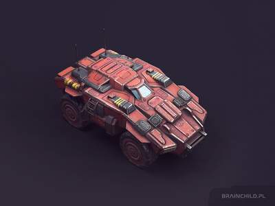 Transport Unity / Low poly (Around 5-6k tris) substance painter 3d mobile game unit truck concept sci-fi tank vehicle