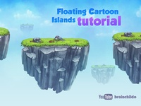 [Tutorial] Painting Floating Cartoon Islands for a game [Part 1]