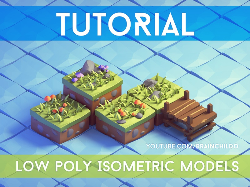 Tutorial] - 3d Isometric Game Tiles - Low Poly style