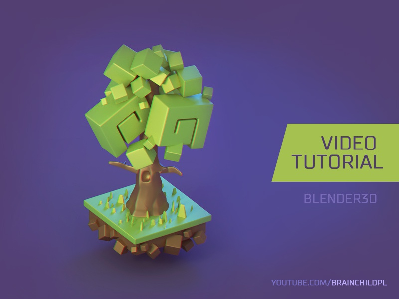 Tutorial] How to create a 3d Cartoon Tree in Blender 3d by