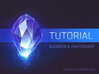 [Tutorial] How to create a Crystal Icon in Blender & Photoshop
