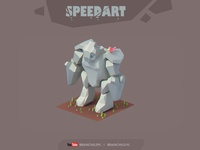 [Speed-Art ] Speed Modeling a 3d Low poly Golem