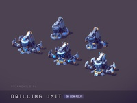 Drilling Unit - Low poly game building (mobile)