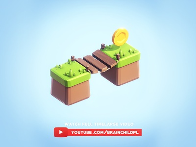 [Timelapse] Super simple low poly 3d game tiles  Unity & Blender 3d game dev mobile indiedev indie 3d tile isometric model game lowpoly low poly