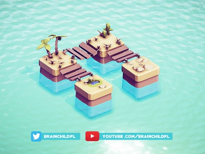 [Timelapse] Super simple low poly 3d game tiles  Unity & Blender 3d game design mobile indiedev indie 3d tiles tile texture model game lowpoly low poly