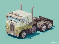 Low Poly Truck | 3d art | Retro