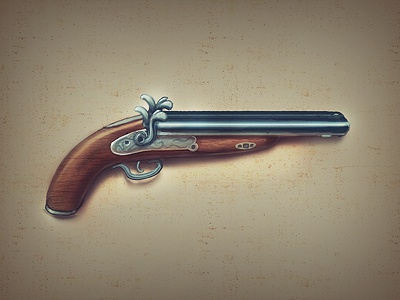 some old gun old gun gun pistol shotgun old icon icons brainchild.pl brainchild game game icon game design western west metal picture icon designer rafal urbanski rafał urbański
