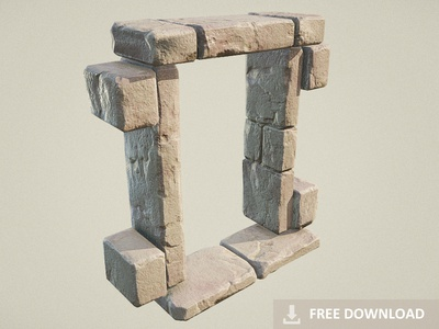 Free Download - Ancient Stone Window / Door Frame (PBR)