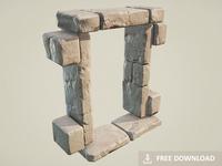 Free Download - Ancient Stone Window / Door Frame (PBR)