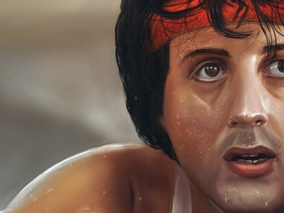 Rocky  rocky actor film video star painting drawing sketch face brainchild.pl brainchild brain muscular box boxing rafał urbański rafal urbanski