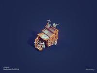 3d Low poly building - Gadgeteer