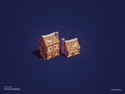 3d low poly - Hut & House unity substance pc painter model poly low lowpoly game house hut designer blender asset 3d