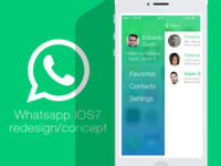 Whatsapp redesign for iOS7