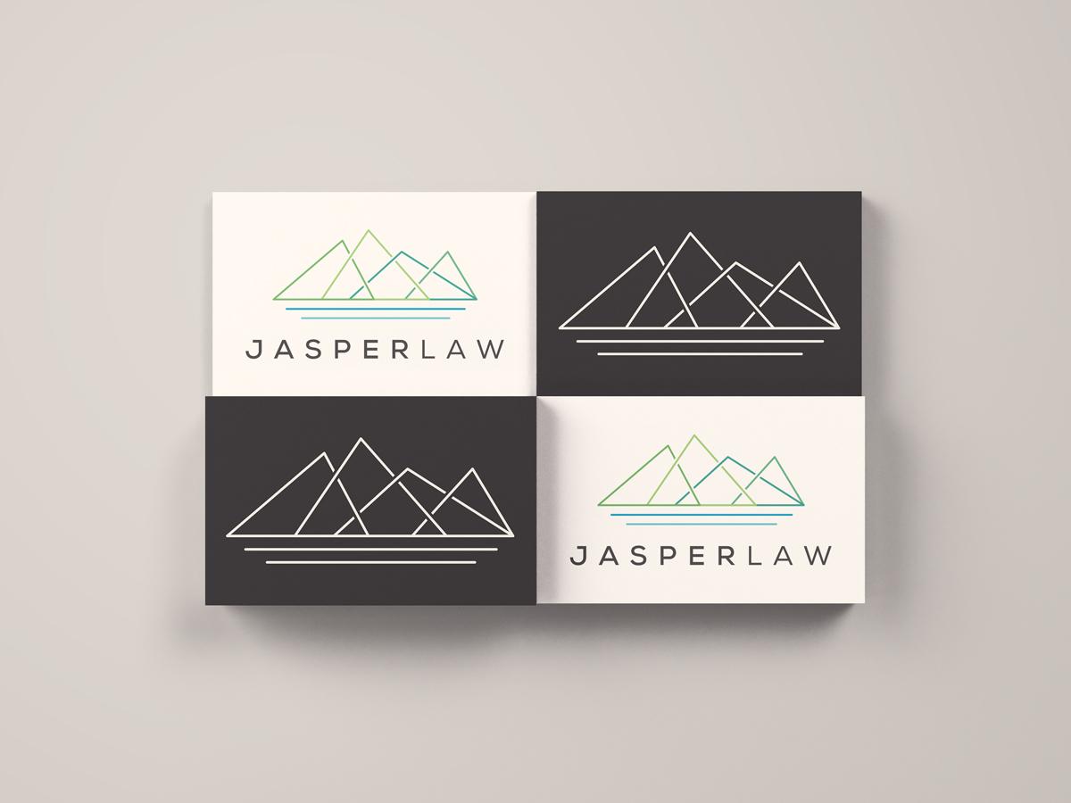 Jasperlaw flat vector logo design branding