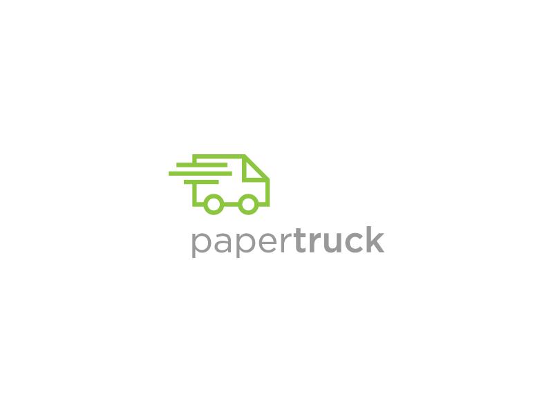 Paper Truck paper truck delivery fast eco green roko kerovec rokac