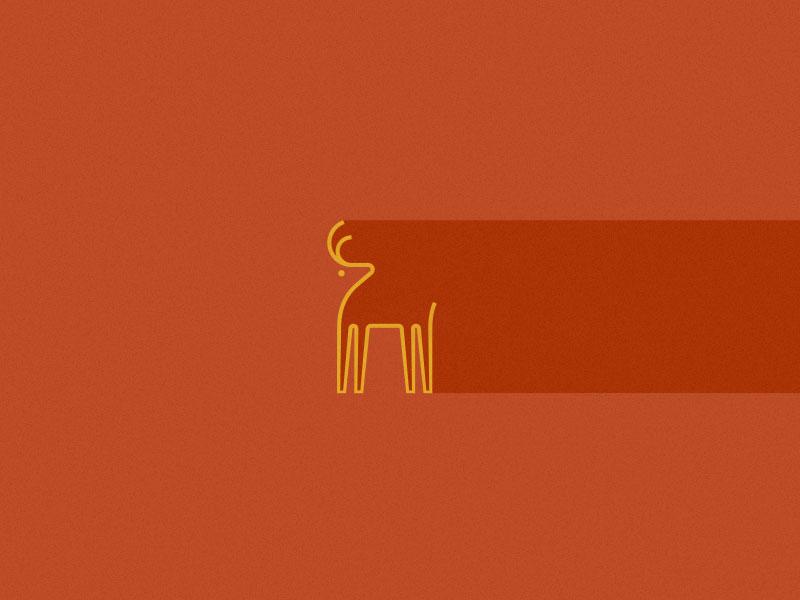 Young Deer young deer buck minimal shadow past future animal roko kerovec rokac