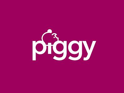 Piggy symbol branding logodesign coin bank logo pig piggy bank