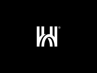 H rokac kerovec roko simple logo pillar construction bridge h