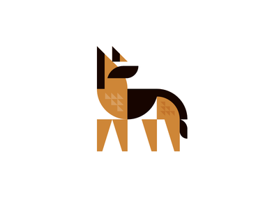 Rex rokac kerovec roko illustration dog shepherd german