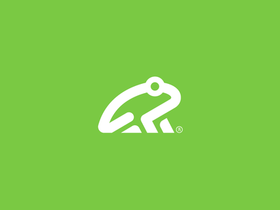 Frog icon minimal branding symbol logo zoo animal frog