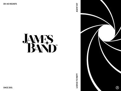James Band agent 007 serif star stencil revista typography logotype music james bond