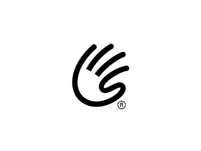 Sketch minimal symbol logo letter fingers invite custom hand sketch