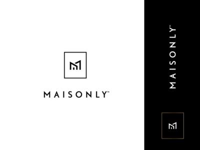 Maisonly rokac icon house m branding logodesigns logodesign custom architecture design interior