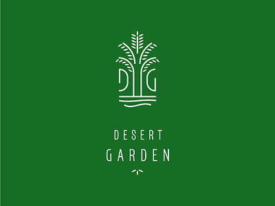 DG logodesign sand water leaf branding restaraunt restaurant branding logo oasis palm restaurant garden desert
