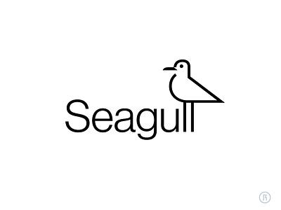 Seagull minimal branding logotype bird logo seagull