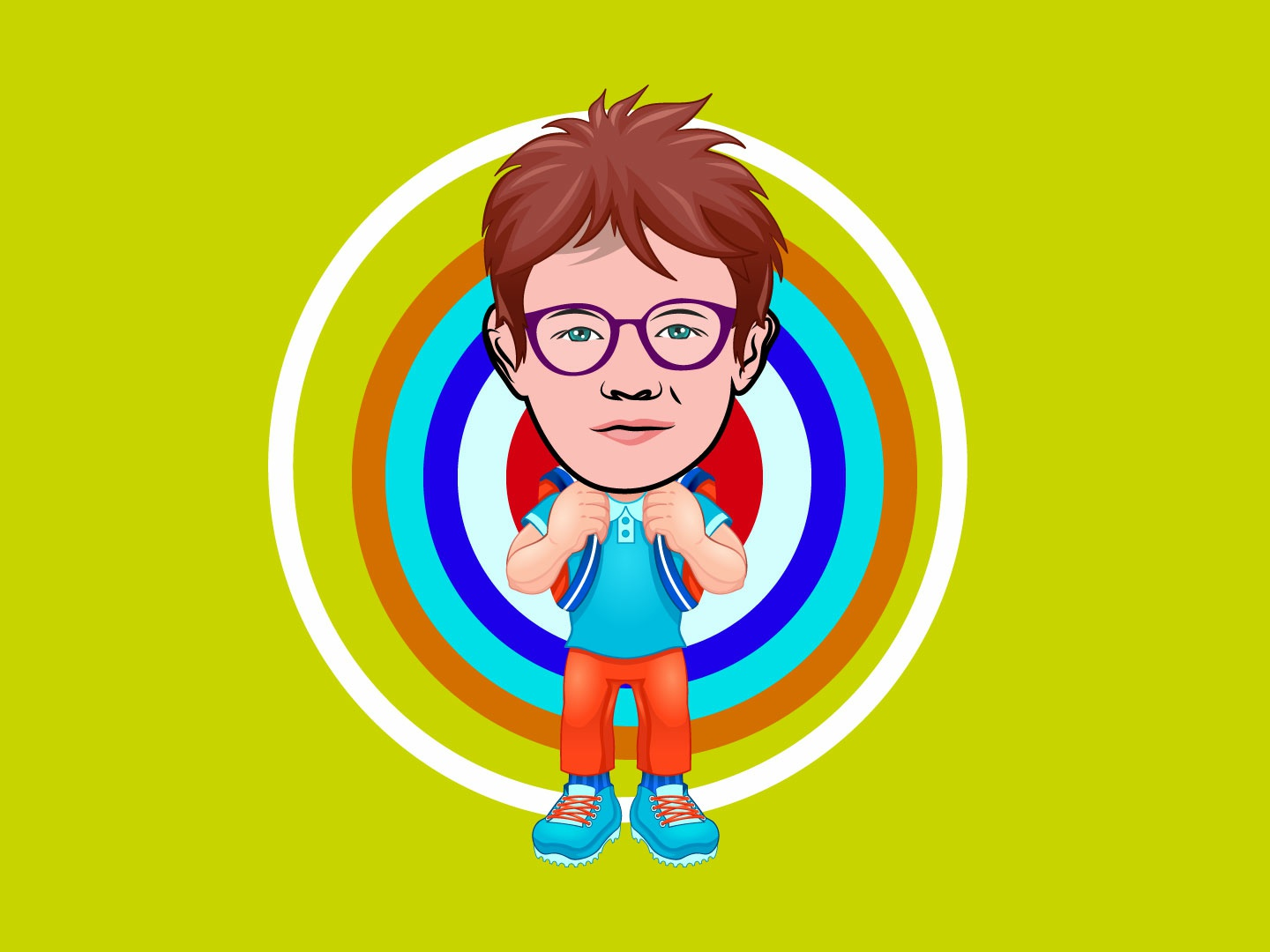 I will draw caricature icon cartoon portrait with vector body portrait art available for hire icon artwork vector illustration cartoon art flat avatar caricatures