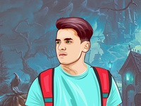 I will create your face cartoon portrait in my own style